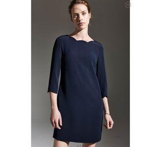 CECE, Leslee' Scallop Edge Shift Dress